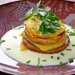Kartoffel-Pilz-Stapel